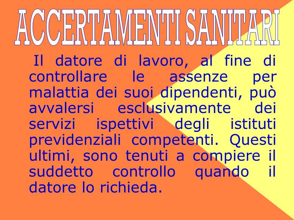 ACCERTAMENTI SANITARI