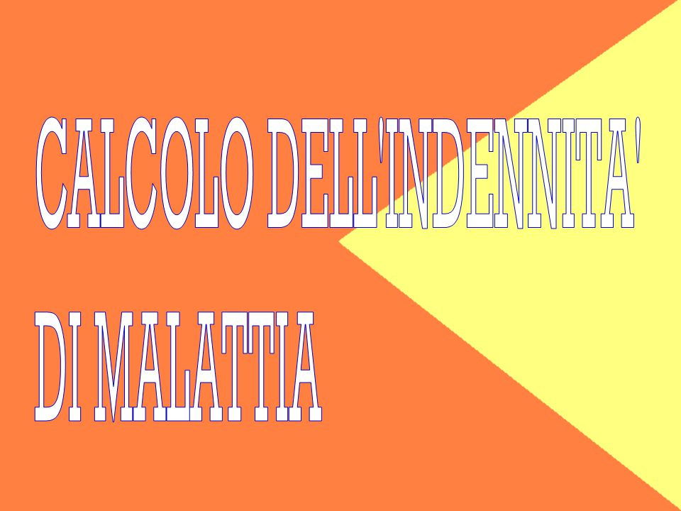 CALCOLO DELL INDENNITA