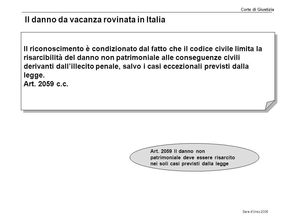 Il danno da vacanza rovinata in Italia