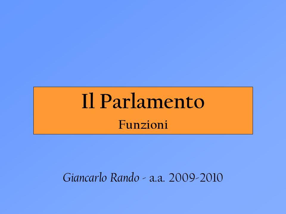 Il Parlamento Funzioni