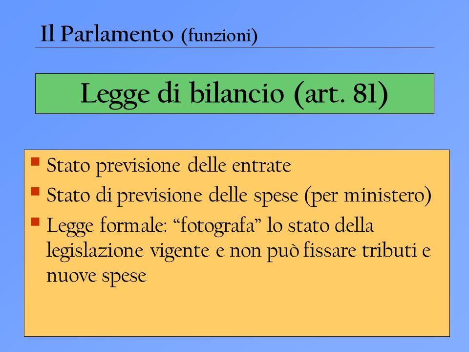 Legge di bilancio (art. 81)