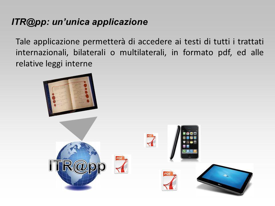 ITR@pp ITR@pp: un'unica applicazione