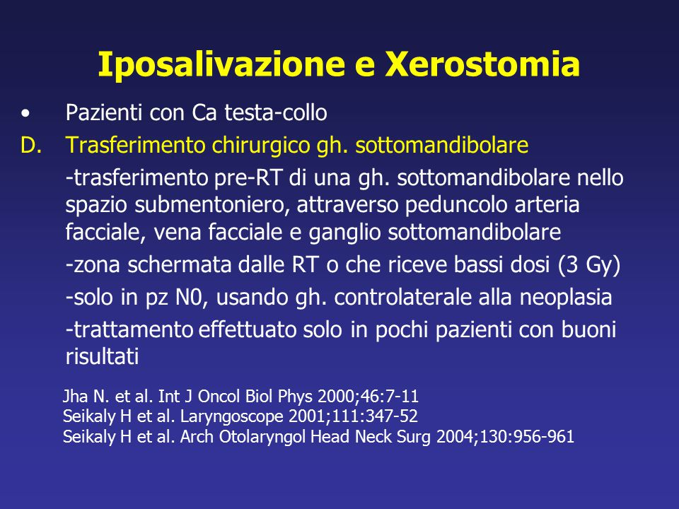 Iposalivazione e Xerostomia