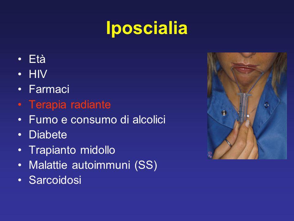 Iposcialia Età HIV Farmaci Terapia radiante Fumo e consumo di alcolici