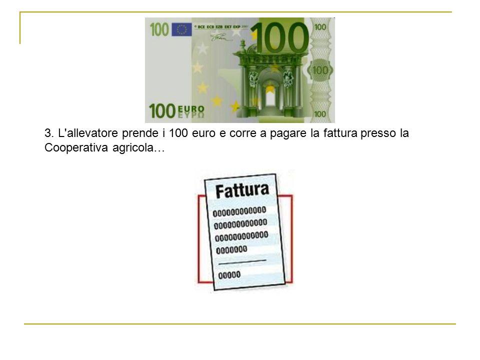 3. L allevatore prende i 100 euro e corre a pagare la fattura presso la Cooperativa agricola…