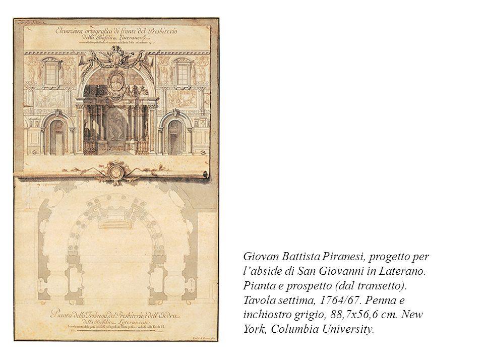 Giovan Battista Piranesi, progetto per l'abside di San Giovanni in Laterano.