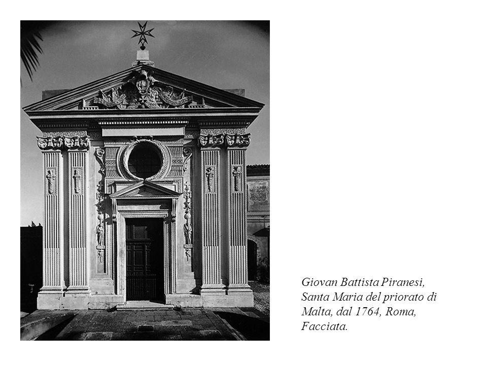 Giovan Battista Piranesi, Santa Maria del priorato di Malta, dal 1764, Roma, Facciata.