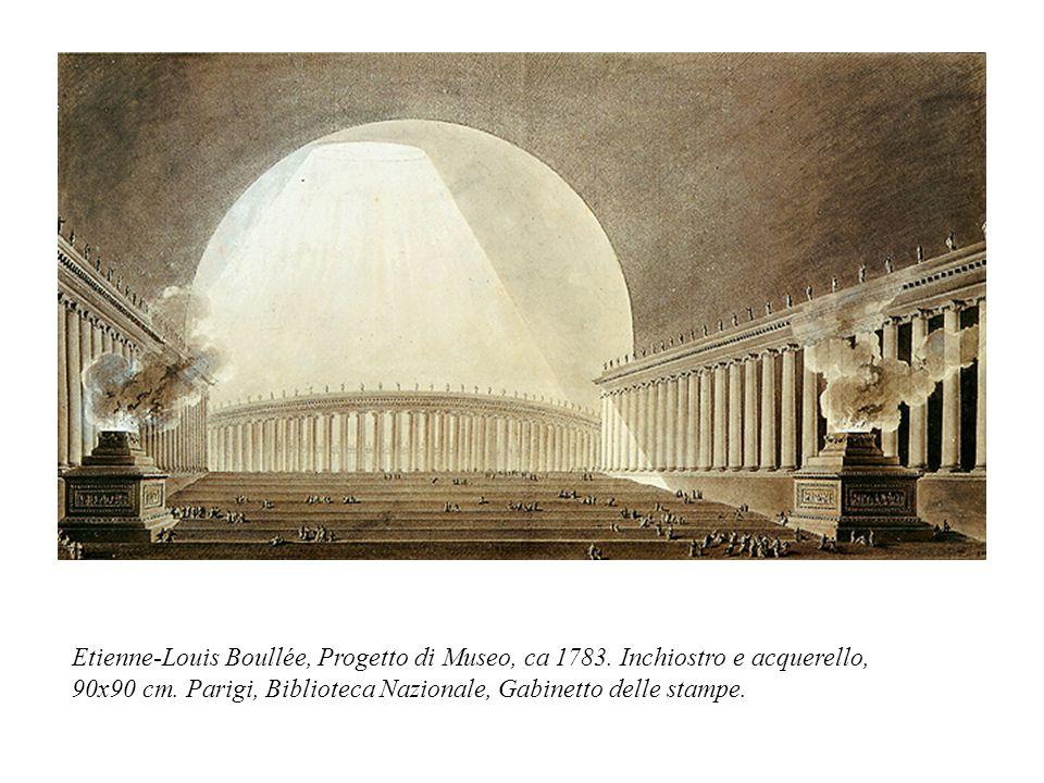 Etienne-Louis Boullée, Progetto di Museo, ca 1783