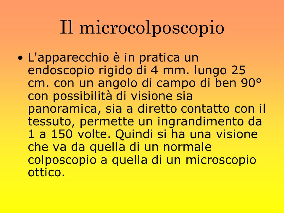 Il microcolposcopio