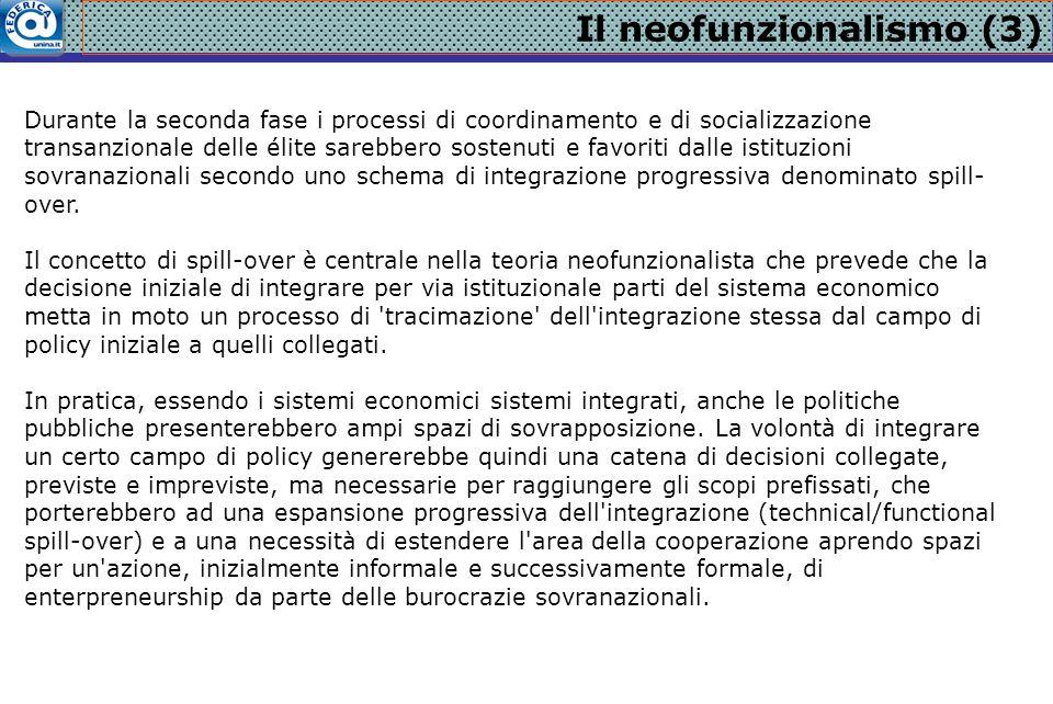 Il neofunzionalismo (3)