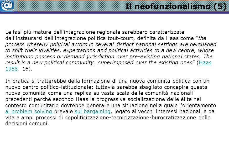 Il neofunzionalismo (5)