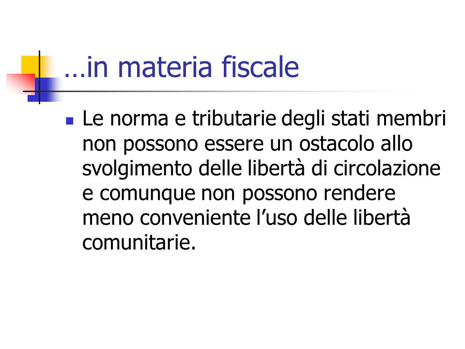 …in materia fiscale