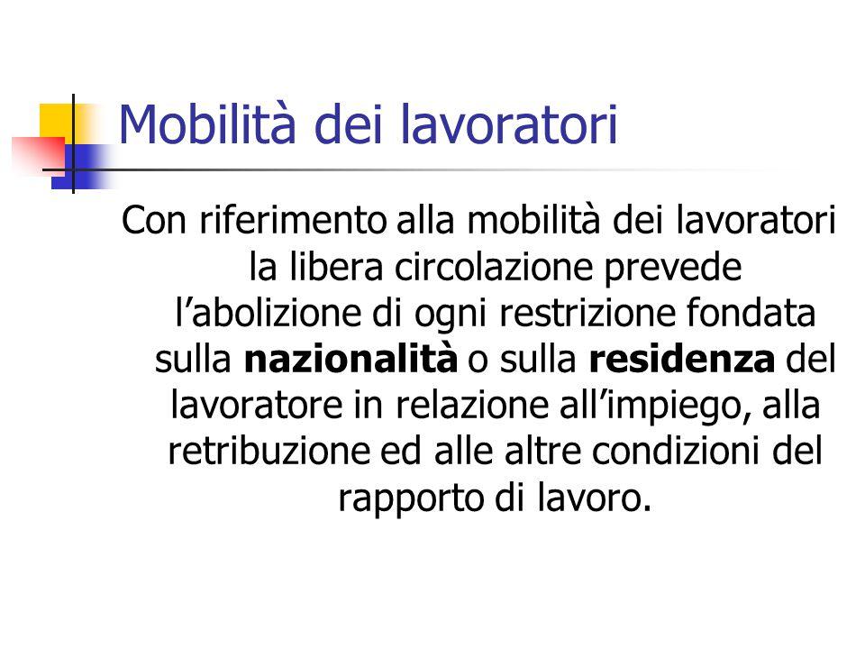 Mobilità dei lavoratori