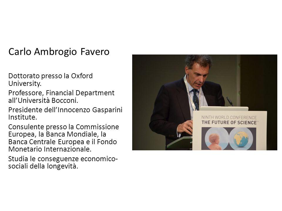 Carlo Ambrogio Favero Dottorato presso la Oxford University.