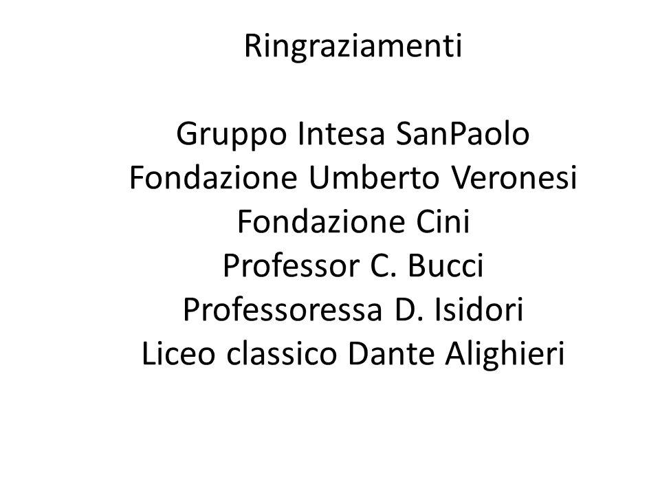 Gruppo Intesa SanPaolo Fondazione Umberto Veronesi Fondazione Cini
