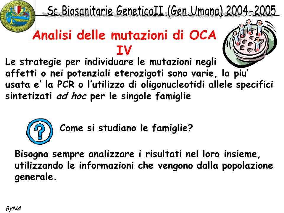 Analisi delle mutazioni di OCA IV