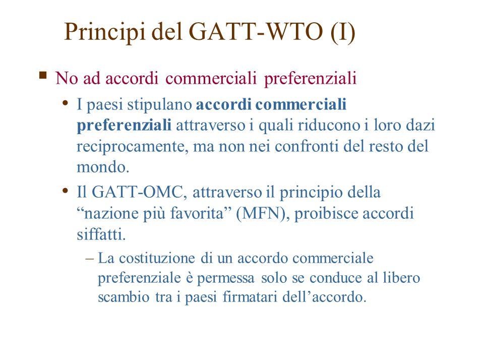 Principi del GATT-WTO (I)