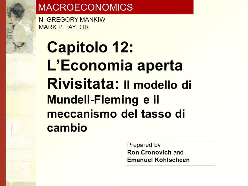 Capitolo 12: L'Economia aperta Rivisitata: Il modello di Mundell-Fleming e il meccanismo del tasso di cambio