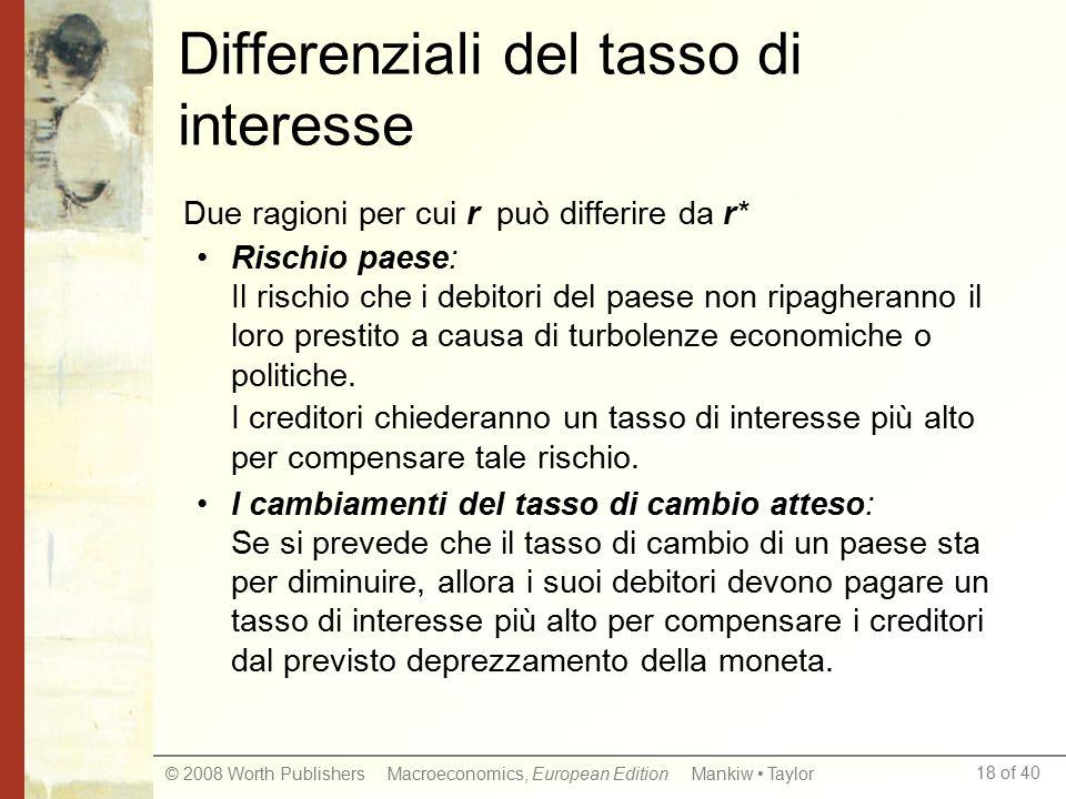 Differenziali del tasso di interesse
