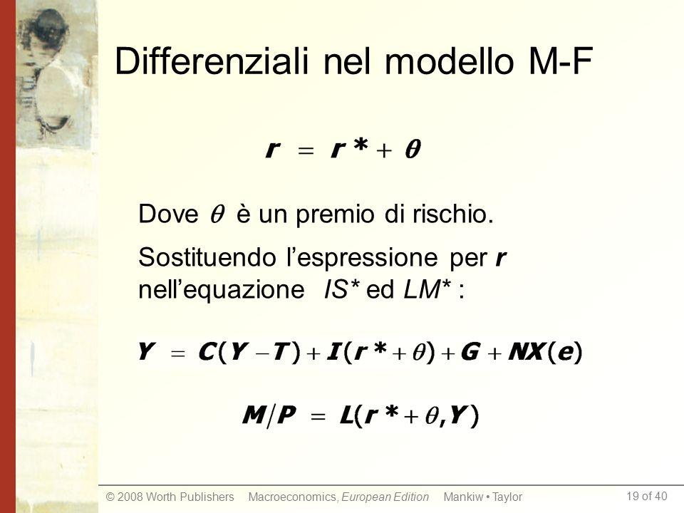 Differenziali nel modello M-F