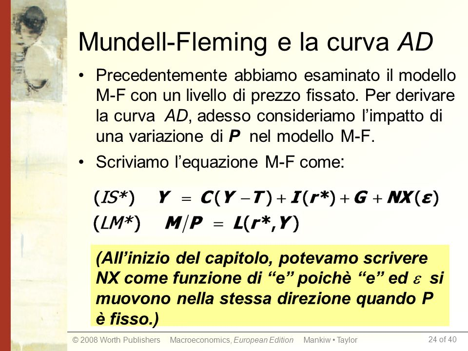 Mundell-Fleming e la curva AD