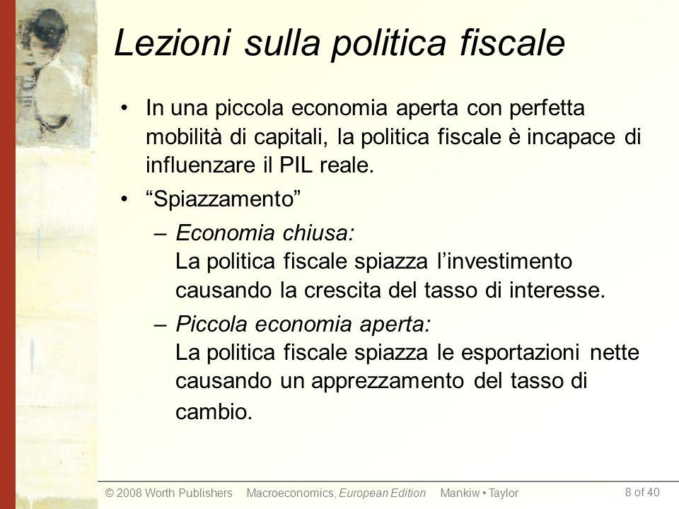 Lezioni sulla politica fiscale