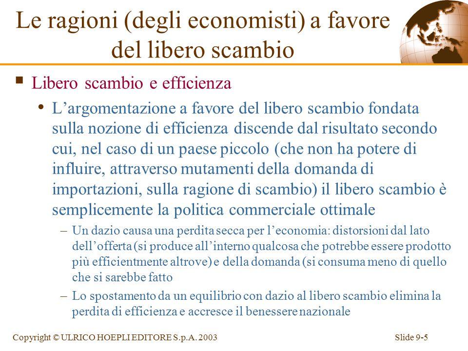 Le ragioni (degli economisti) a favore del libero scambio