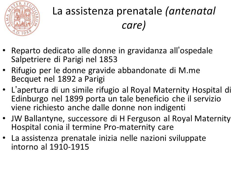 La assistenza prenatale (antenatal care)