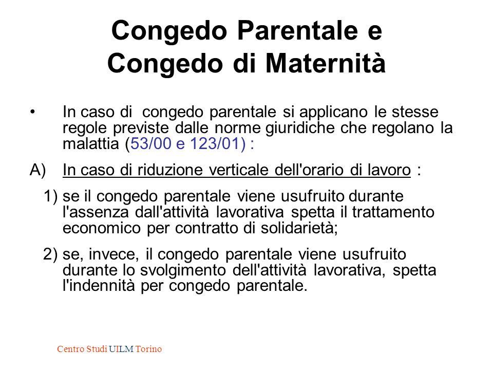 Congedo Parentale e Congedo di Maternità