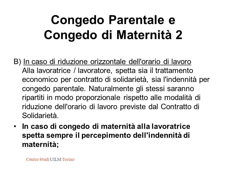 Congedo Parentale e Congedo di Maternità 2