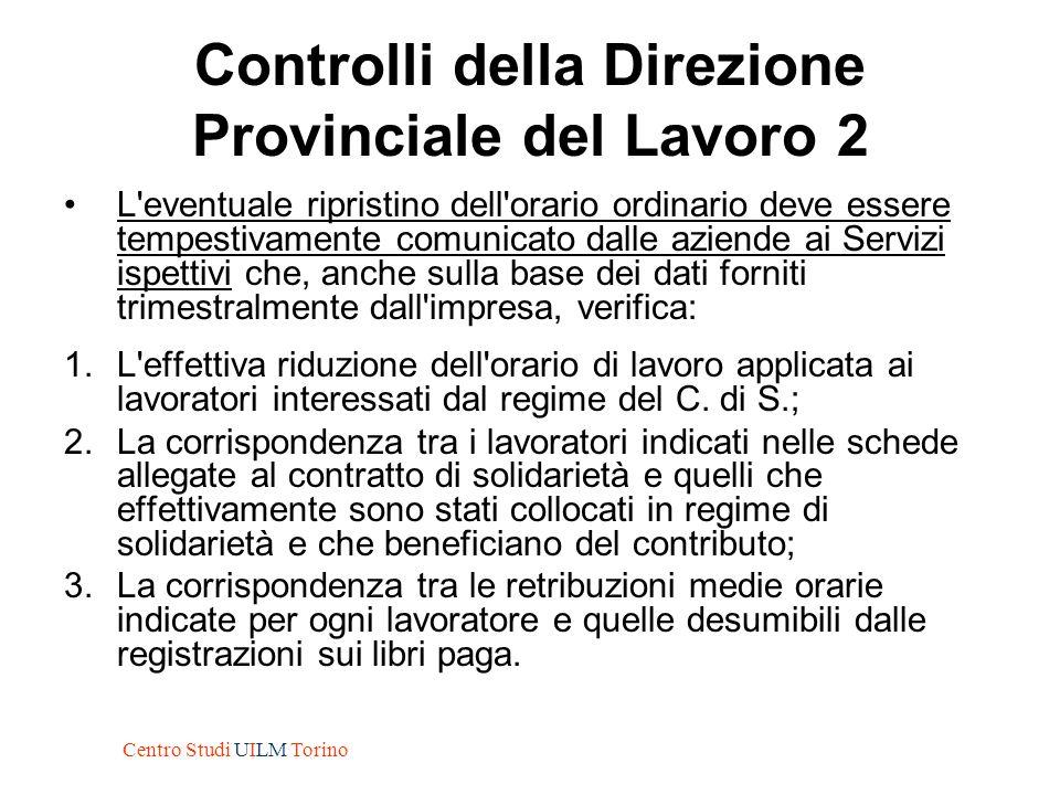 Controlli della Direzione Provinciale del Lavoro 2