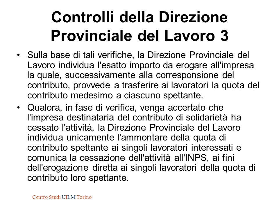 Controlli della Direzione Provinciale del Lavoro 3