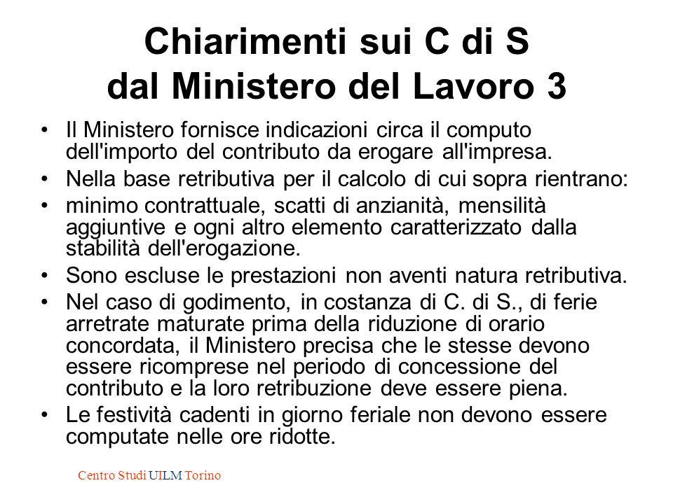 Chiarimenti sui C di S dal Ministero del Lavoro 3