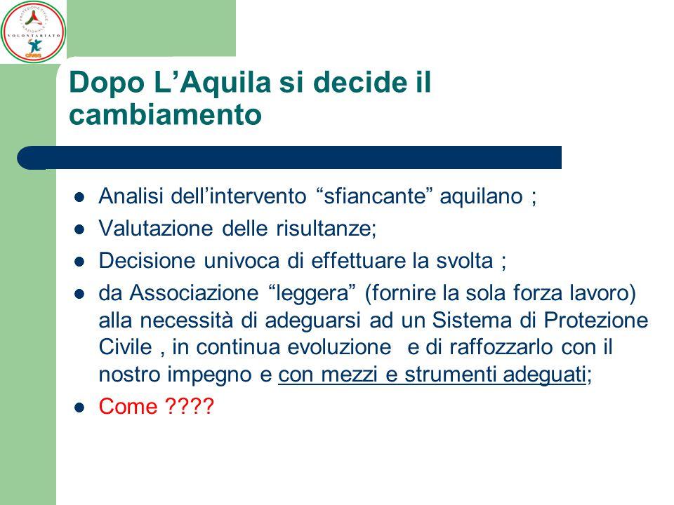 Dopo L'Aquila si decide il cambiamento