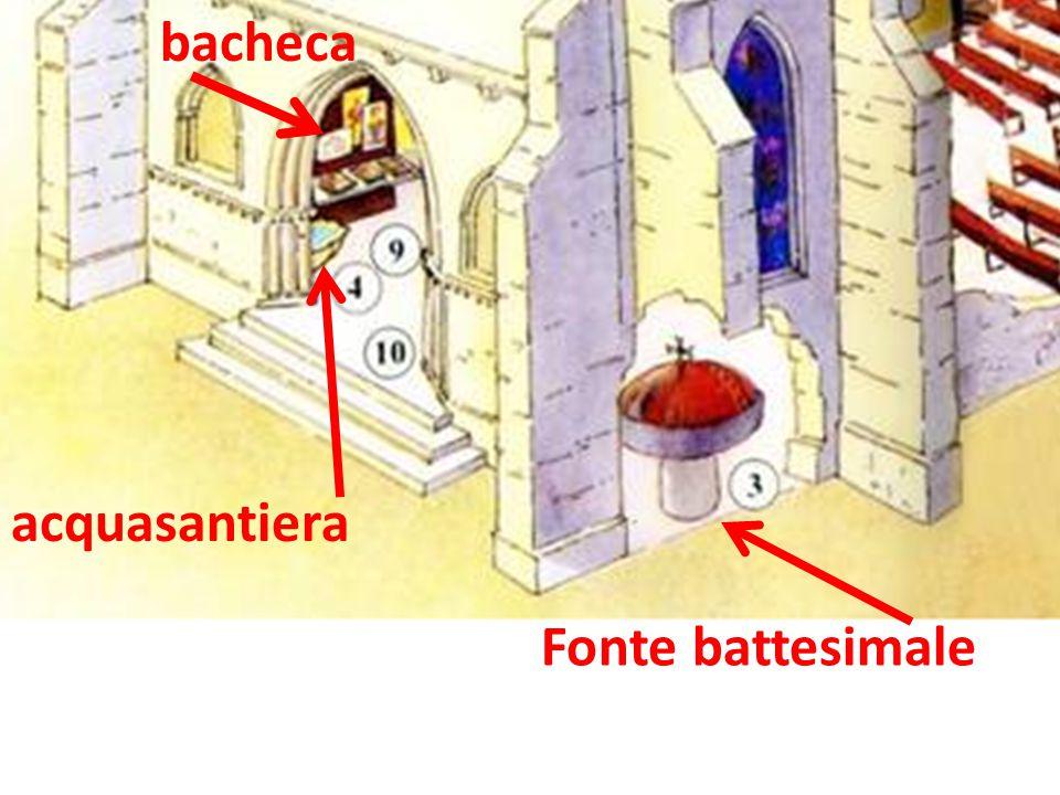 bacheca acquasantiera Fonte battesimale