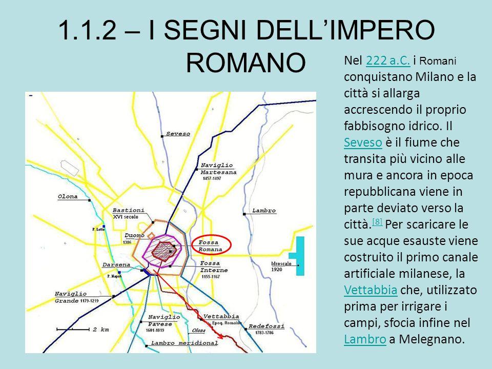 1.1.2 – I SEGNI DELL'IMPERO ROMANO