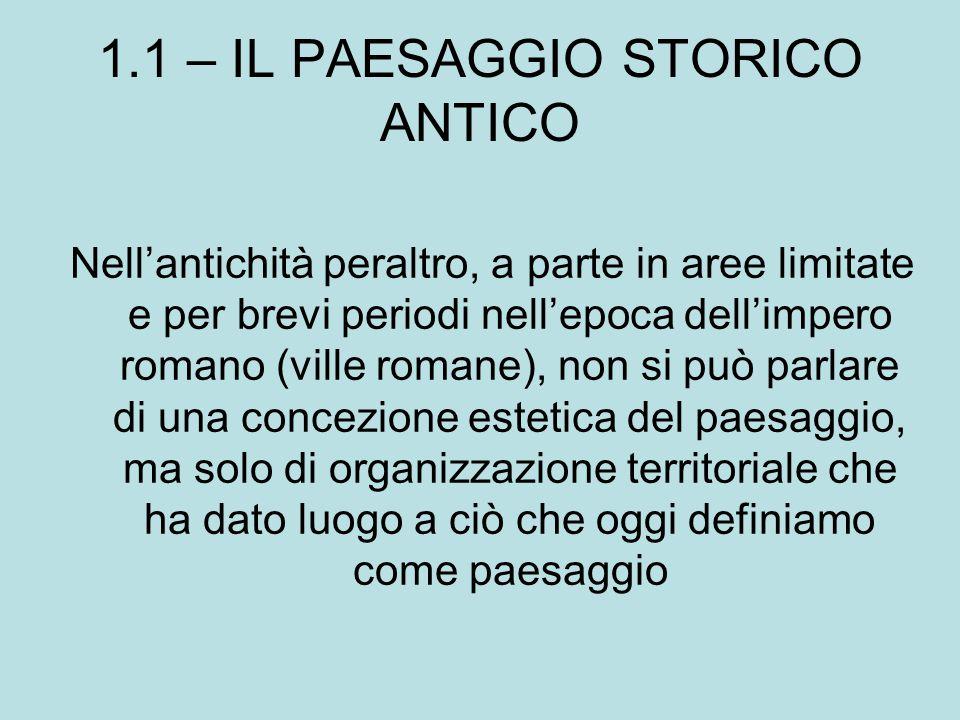 1.1 – IL PAESAGGIO STORICO ANTICO