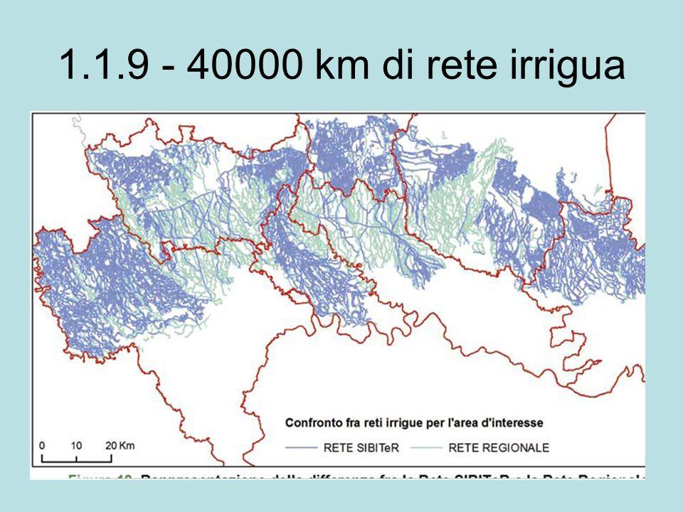 1.1.9 - 40000 km di rete irrigua