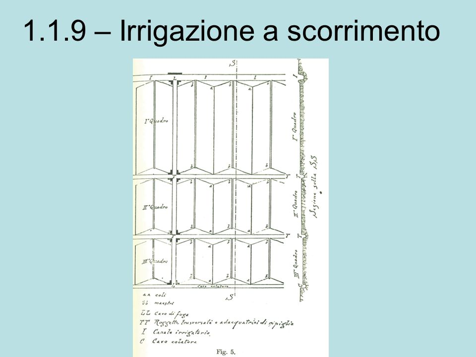 1.1.9 – Irrigazione a scorrimento