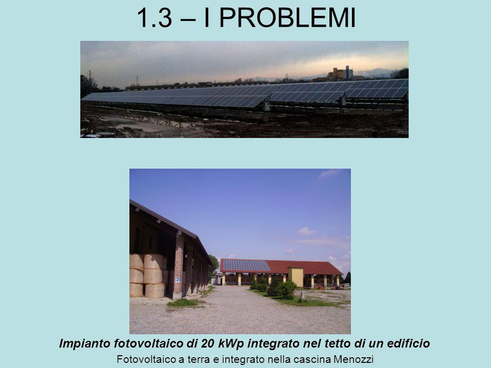 Fotovoltaico a terra e integrato nella cascina Menozzi
