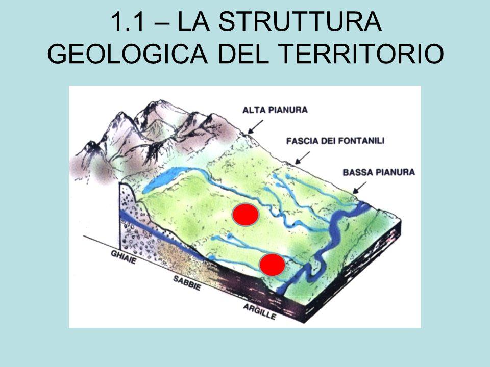 1.1 – LA STRUTTURA GEOLOGICA DEL TERRITORIO