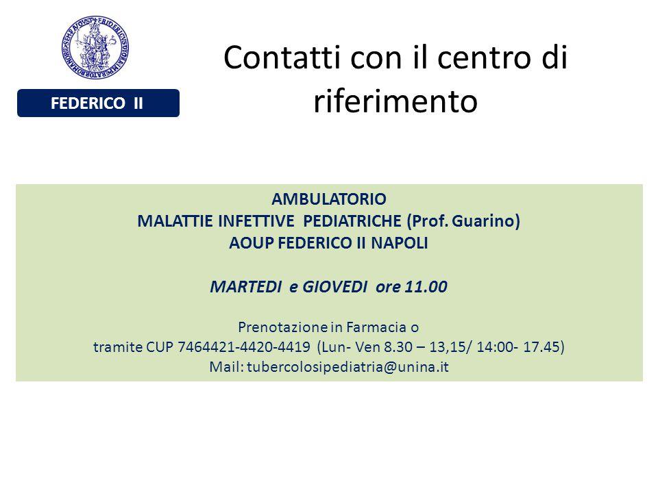 MALATTIE INFETTIVE PEDIATRICHE (Prof. Guarino) AOUP FEDERICO II NAPOLI
