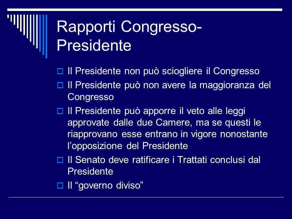 Rapporti Congresso-Presidente