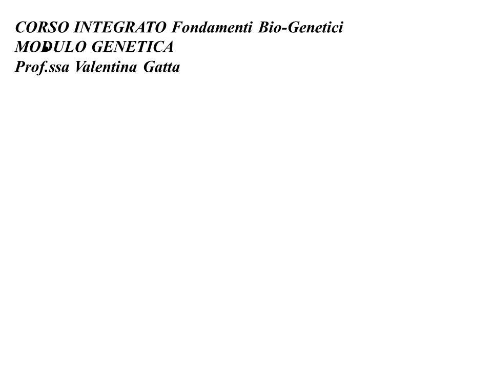 CORSO INTEGRATO Fondamenti Bio-Genetici