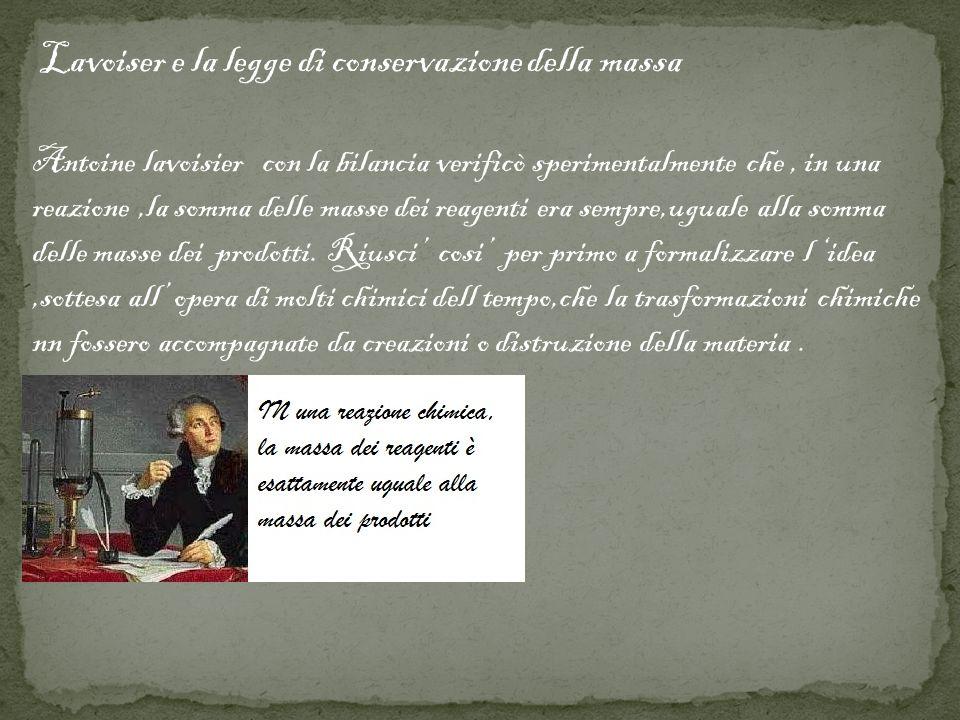 Lavoiser e la legge di conservazione della massa