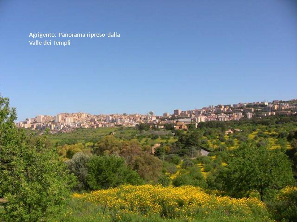 Agrigento: Panorama ripreso dalla Valle dei Templi