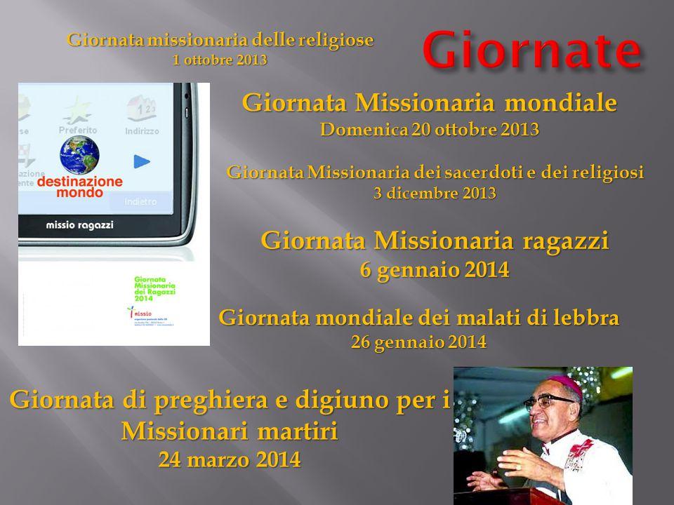 Giornate Giornata Missionaria mondiale Giornata Missionaria ragazzi