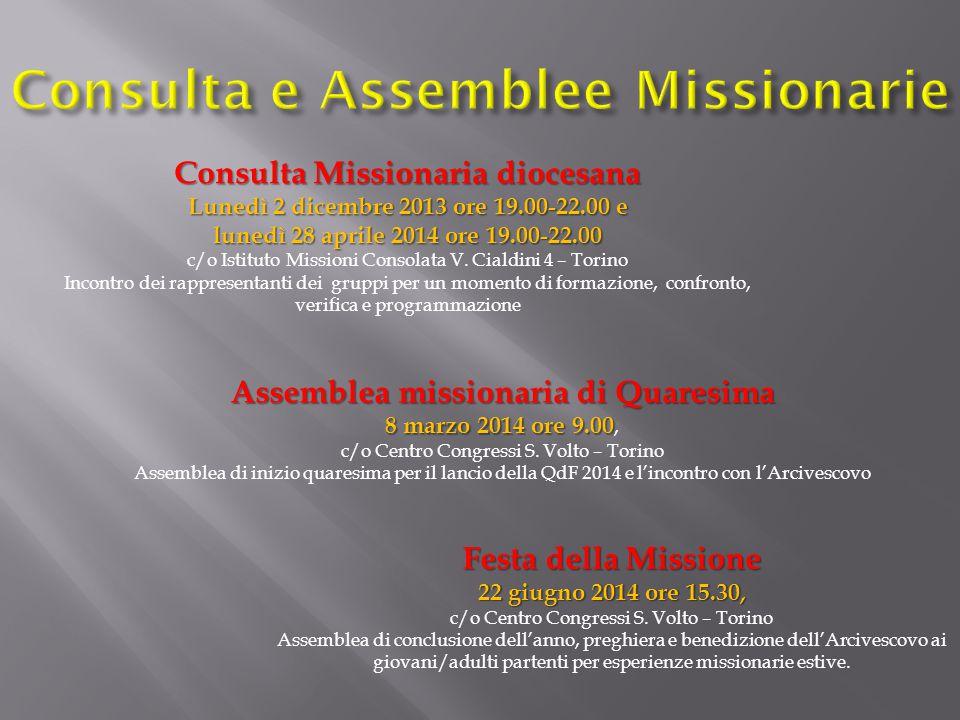 Consulta e Assemblee Missionarie