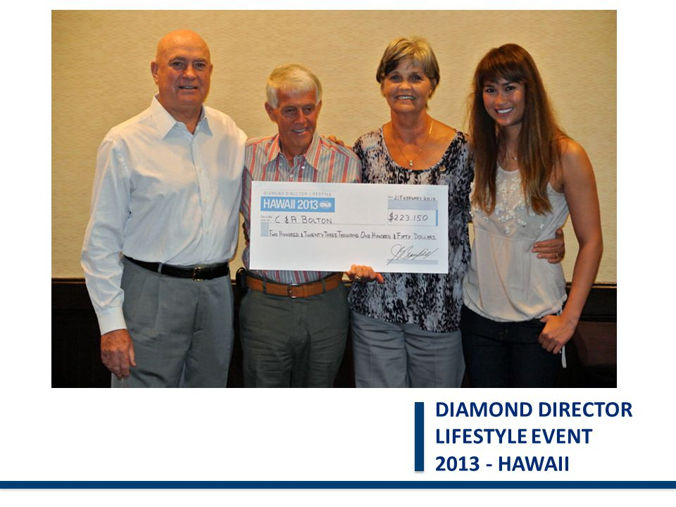 DIAMOND DIRECTOR LIFESTYLE EVENT 2013 - HAWAII 16