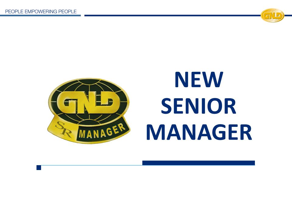 NEW SENIOR MANAGER 21